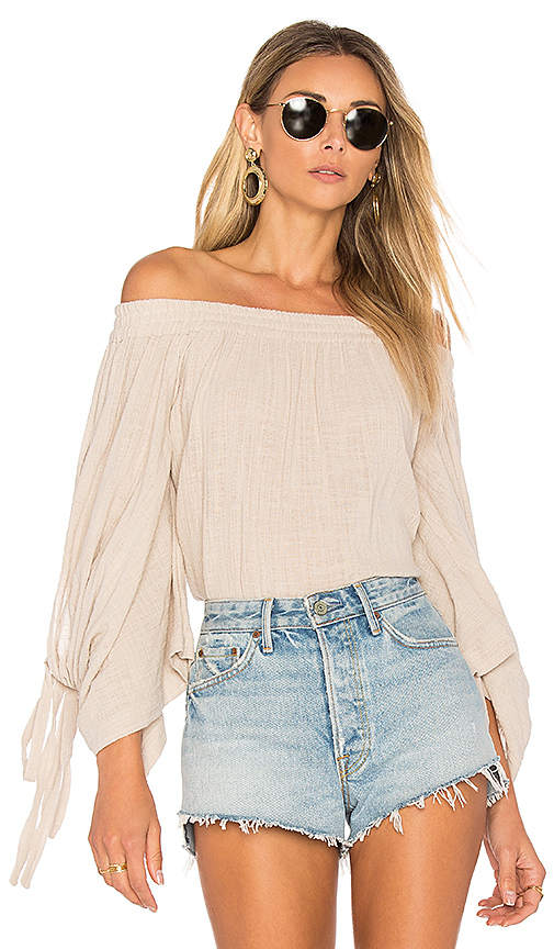 MISA Los Angeles Adeli Top in Beige