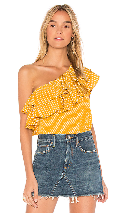 MISA Los Angeles Klea Top in Mustard
