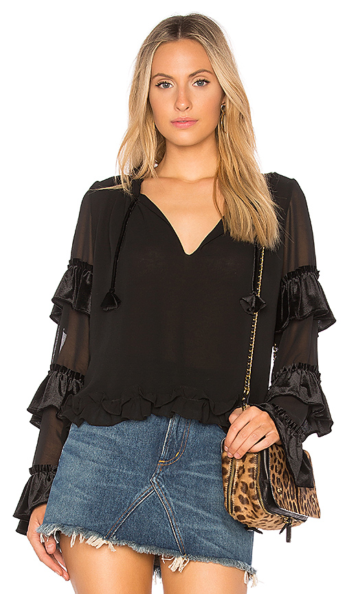 MISA Los Angeles Emeline Top in Black