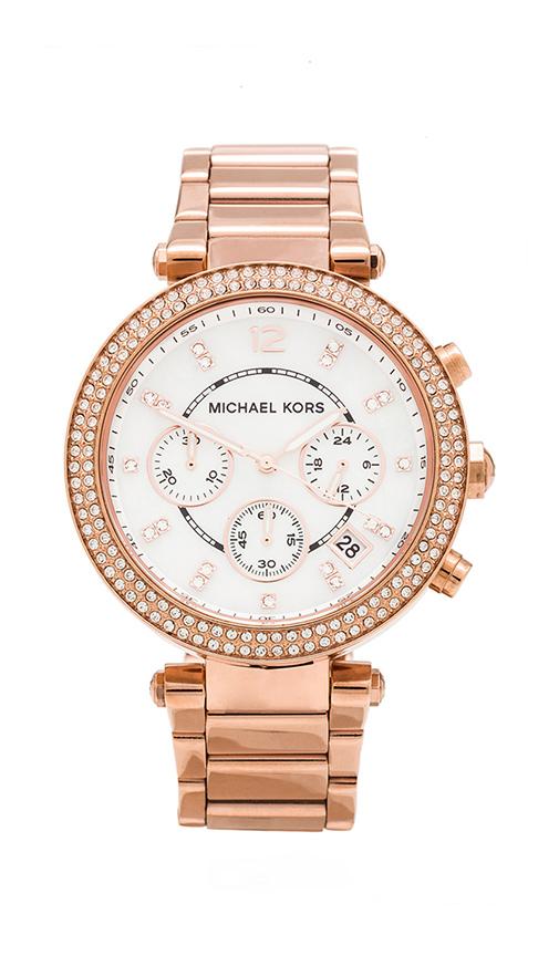 Michael Kors Parker Watch in Rose.