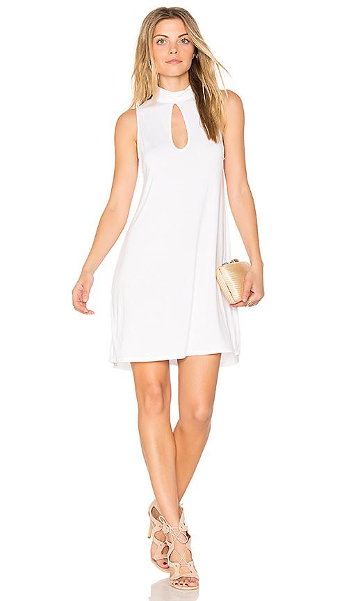 Michael Lauren Atticus Keyhole Tank Dress in White