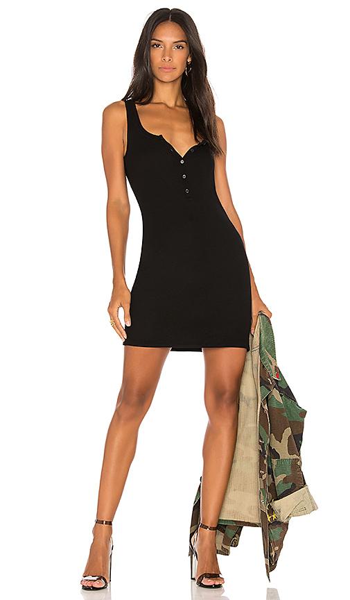 Michael Lauren Runner Tank Dress in Black