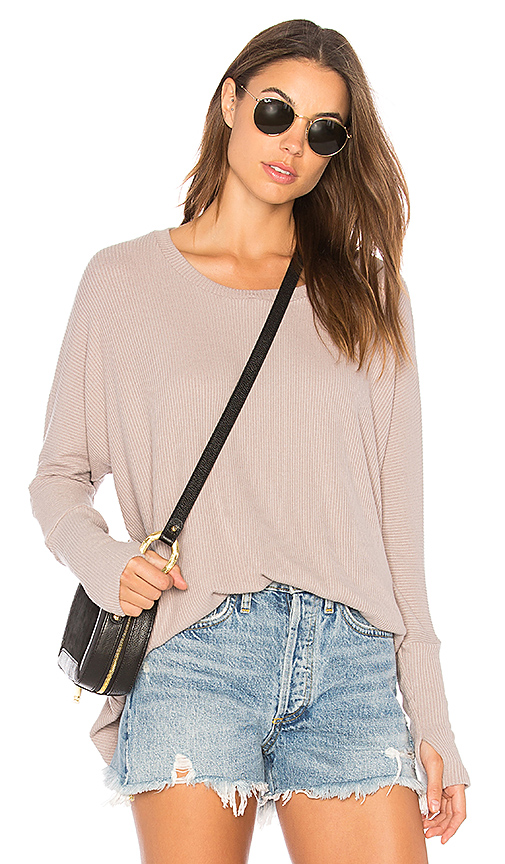 Michael Lauren Branson Top in Taupe