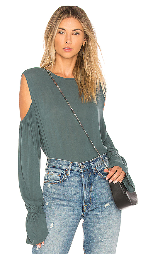Michael Lauren Sam Blouse in Green