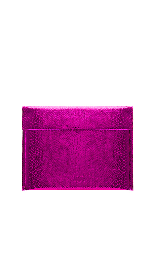 MM6 Maison Margiela Snake Lame Pouch in Fuchsia