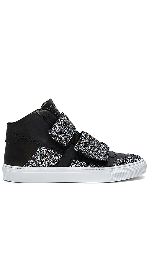 MM6 Maison Margiela Hi Top Sneaker in Black. - size 38 (also in 36.5)