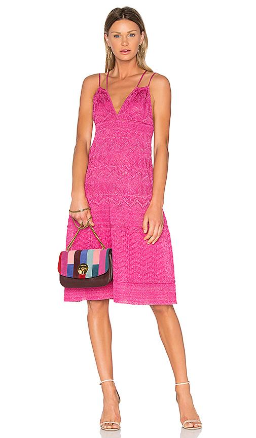 M Missoni Sleeveless Midi Dress in Pink. - size IT 36/ US 0 (also in IT 38/ US 2,IT 40/ US 4,IT 42/ US 6)