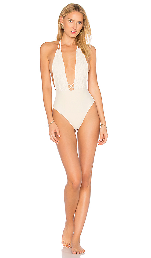 Montce Swim Backless One Piece in Cream