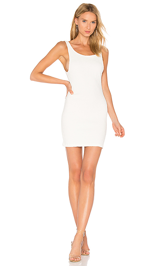 Motel Mergy Dress in White