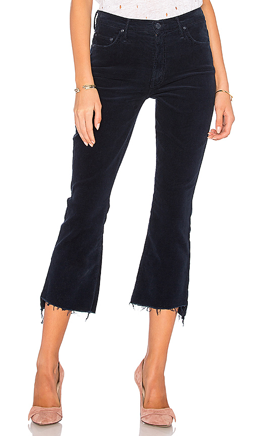 MOTHER Corduroy Insider Crop Step Fray. - size 23 (also in 24,25,26,27,28,29)
