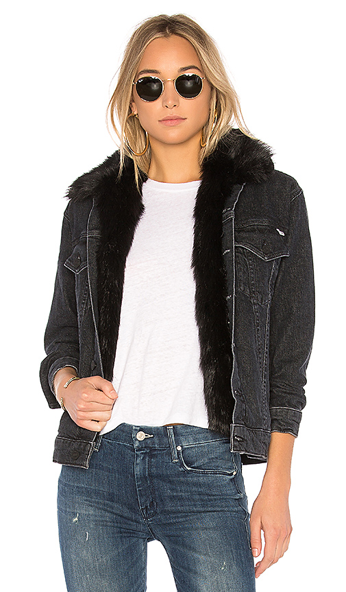 MOTHER The Furry Faux Fur Drifter Jacket