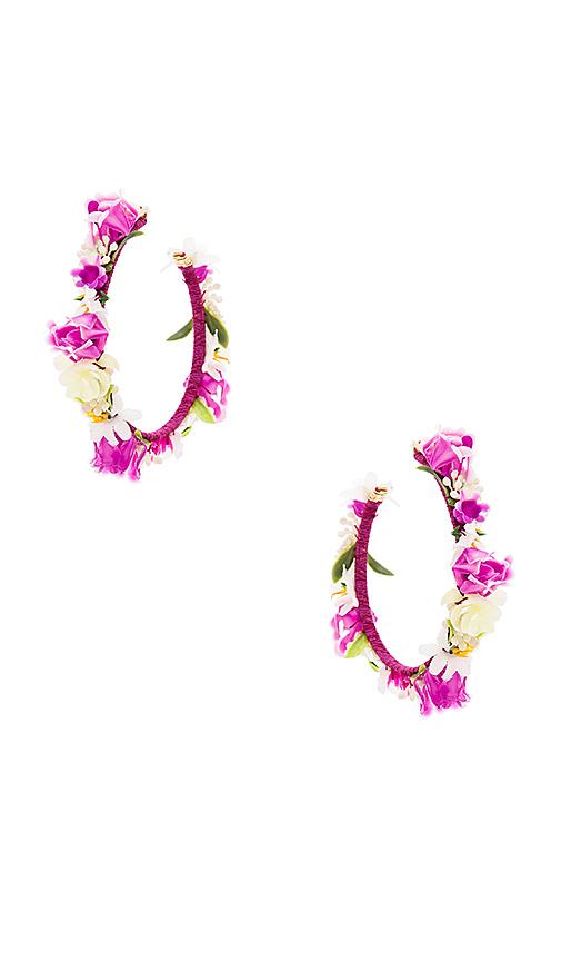 Mercedes Salazar Jardin Lilas Earrings in Purple