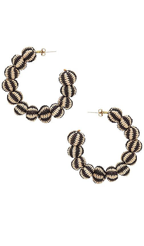 Mercedes Salazar Candonga Hoop Earrings in Black