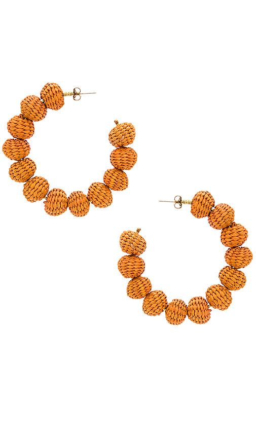 Mercedes Salazar Candonga Hoop Earrings in Orange