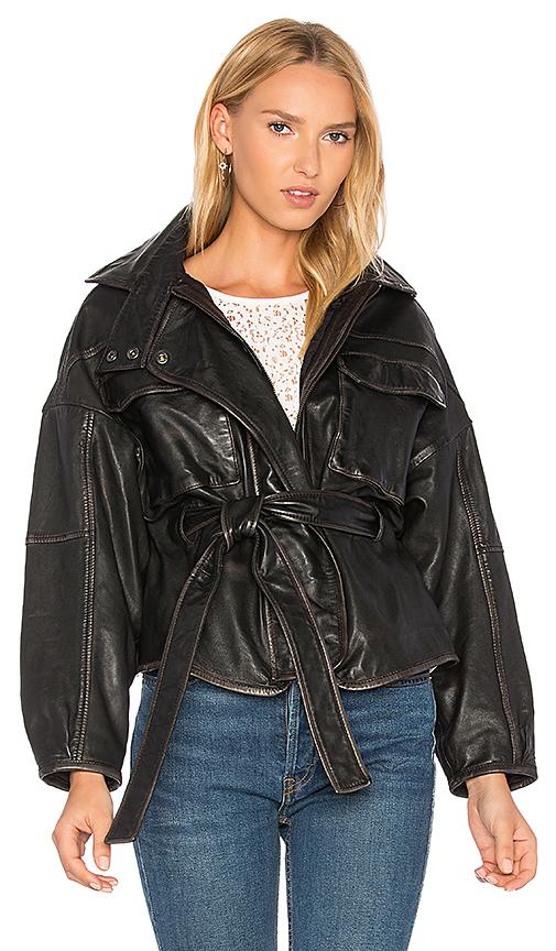 Marissa Webb Kayla Leather Anorak in Black