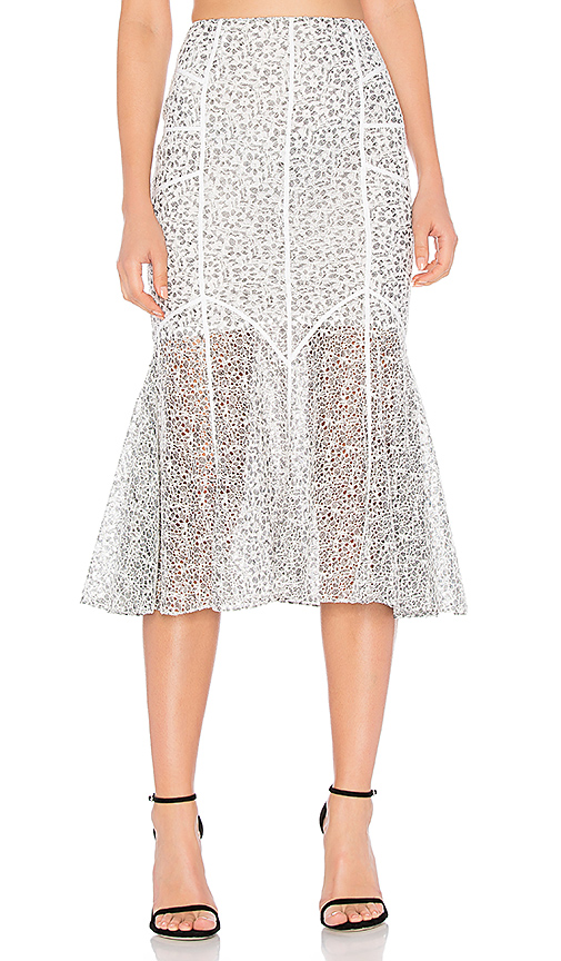 Marissa Webb Tallulah Lace Skirt in White. - size L (also in S,XS,M)