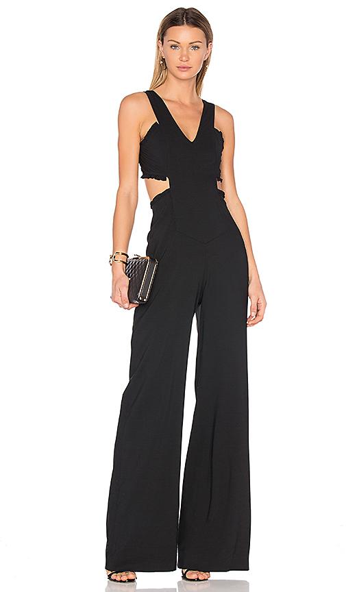 Marissa Webb Alicia Crepe Jumpsuit in Black. - size 0 (also in 8)