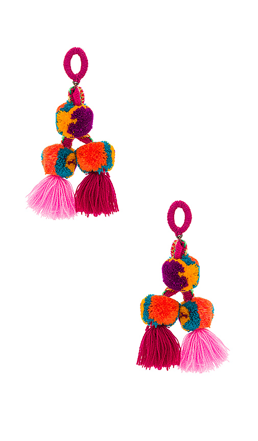 Nannacay Killa Earrings in Fuchsia