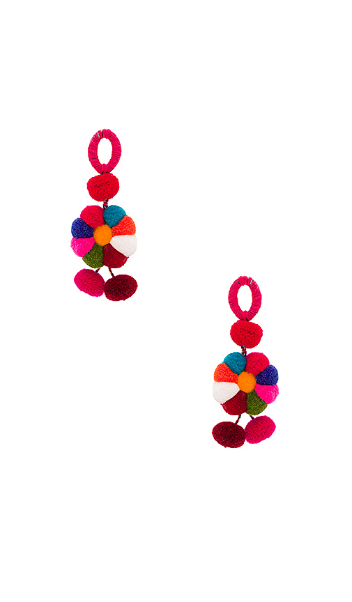 Nannacay Iris Earrings in Fuchsia