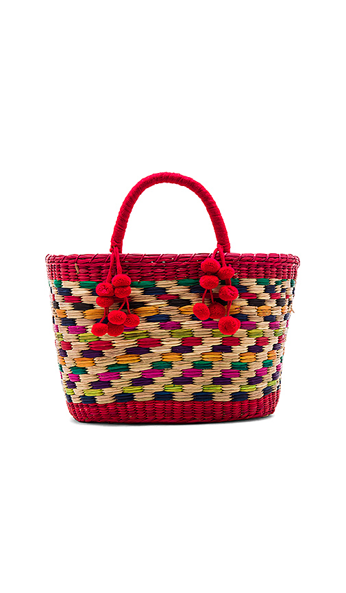 Photo of Nannacay Zanzibar Aninha Tote Bag in Red - shop Nannacay bags sales