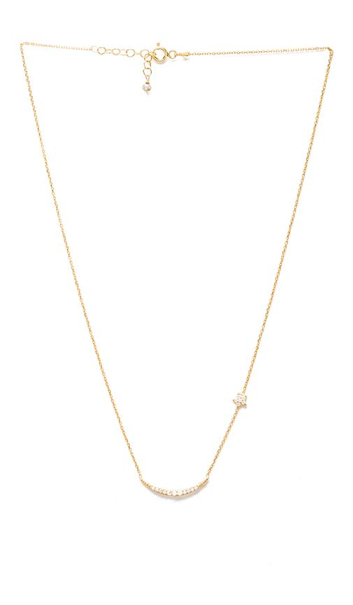 Natalie B Jewelry Natalie B Ottoman Moon and Star Necklace in Metallic Gold