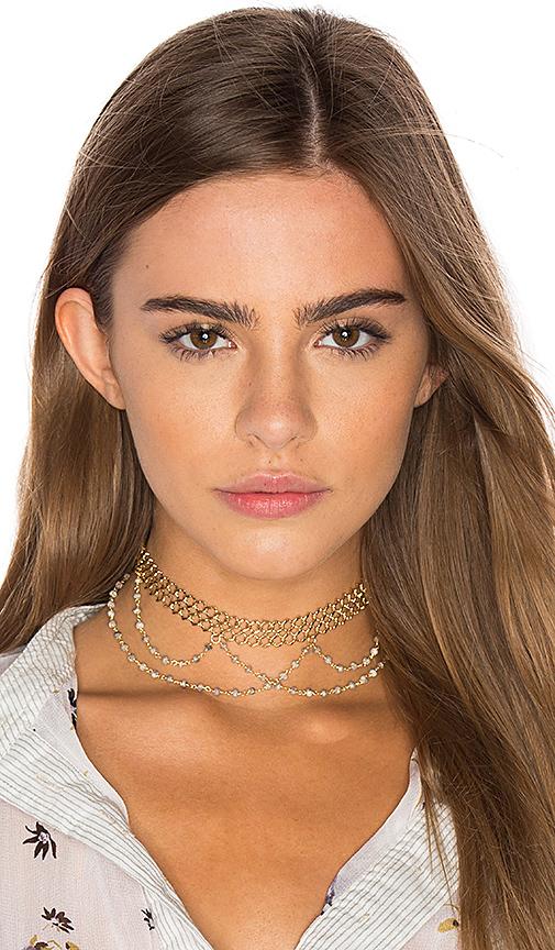 Natalie B Jewelry x REVOLVE Lexington Choker in Metallic Gold
