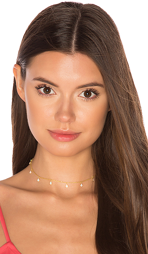 Natalie B Jewelry Odessa Opal Choker in Metallic Gold