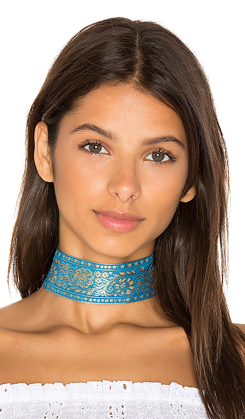 Natalie B Jewelry Marari Choker in Blue