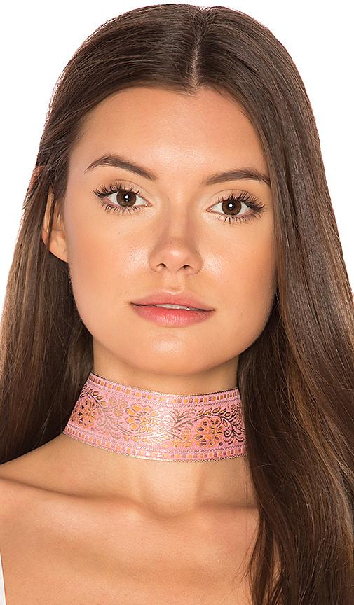 Natalie B Jewelry Marari Choker in Pink