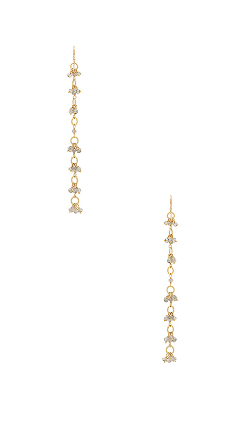 Natalie B Jewelry Liliana Earring in Metallic Gold