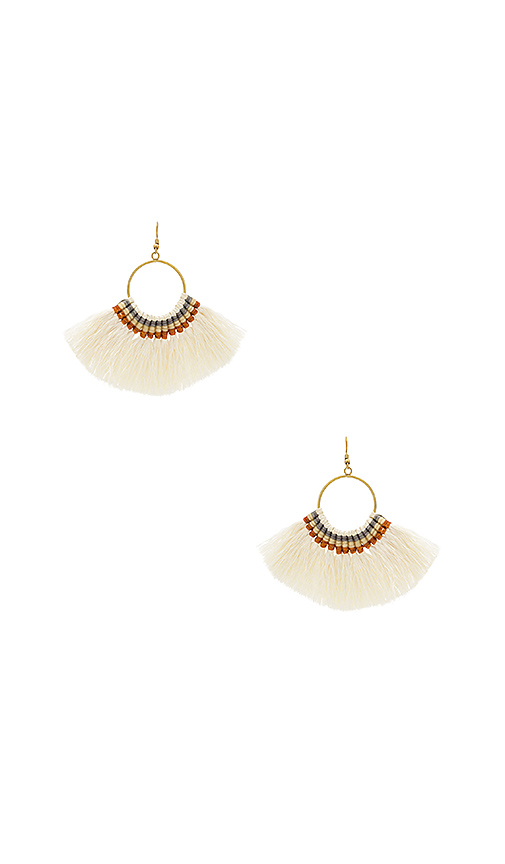Natalie B Jewelry Fringe Tassel Earrings in Metallic Gold