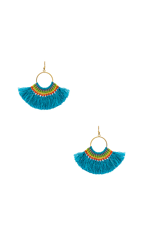 Natalie B Jewelry Natalie B X REVOLVE Jewelry Fringe Tassel Earrings in Metallic Gold