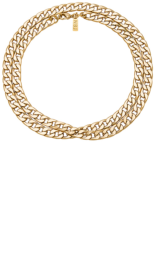Natalie B Jewelry Erbe Necklace in Metallic Gold