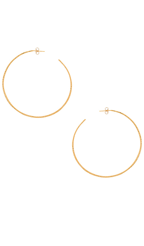 Natalie B Jewelry Classico Grande Hoops in Metallic Gold