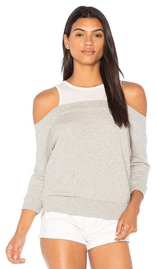 Nation LTD Highland Park Cold Shoulder Sweatshirt in Gray