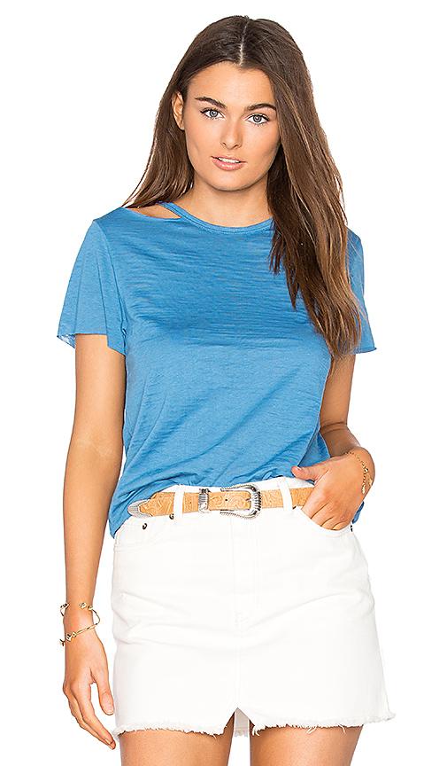 Nation LTD Eli Cold Shoulder Top in Blue