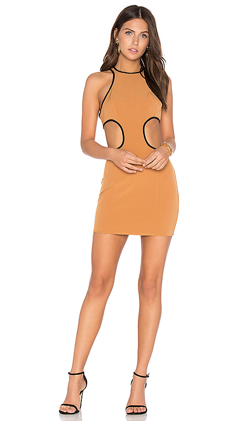 NBD x REVOLVE Small Talk Mini Dress in Brown