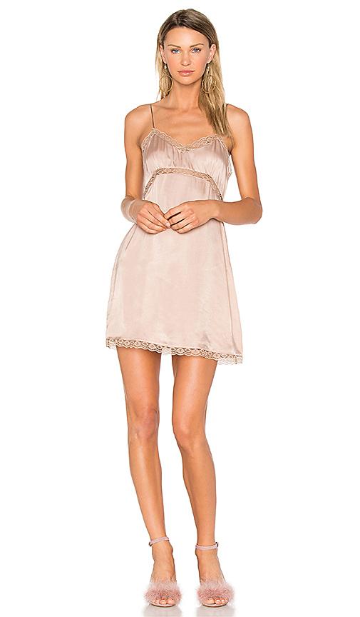 NBD Illiana Mini Dress in Taupe