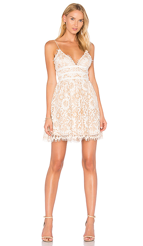 NBD Give it Up Dress in Cream