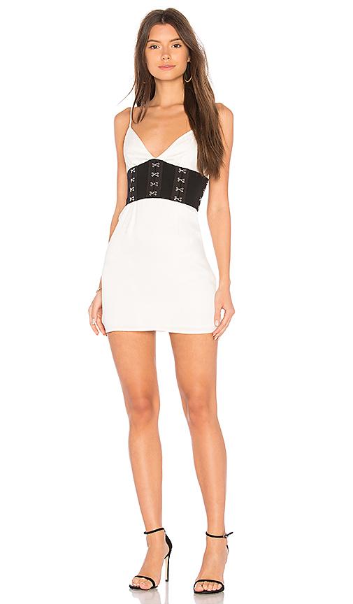 NBD Adena Dress in White. - size L (also in M,S,XS, XXS)