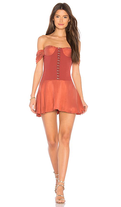 NBD Aabria Dress in Rust