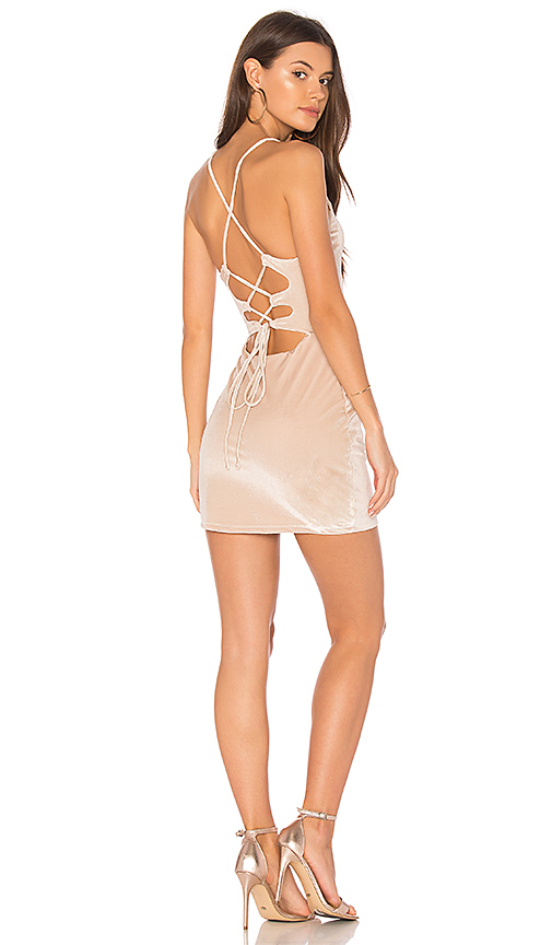 NBD Lauren Bodycon Dress in Metallic Neutral