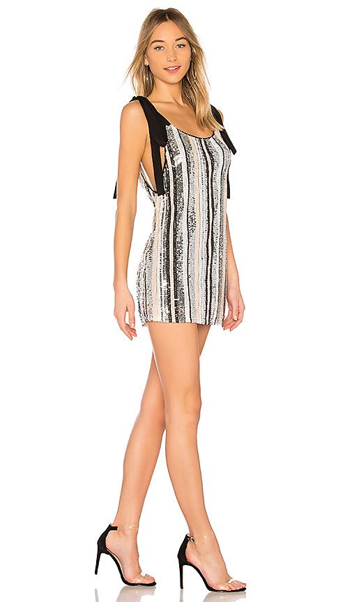 NBD Suri Dress in Metallic Silver
