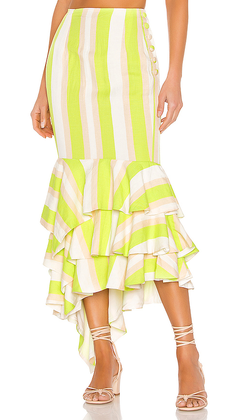 NBD | NBD Ayesha Midi Skirt In Green. - Size XL (Also In S,XXS,XS,M,L) | Goxip