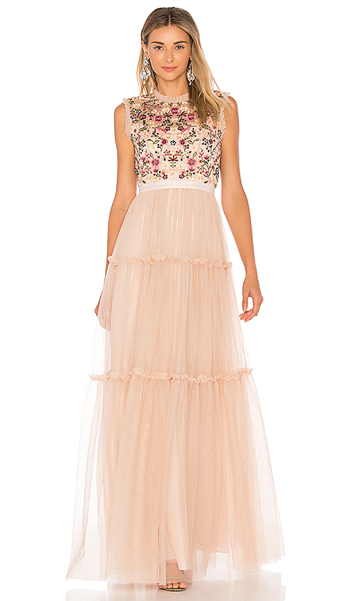 Needle & Thread Beatrix Gown in Pink