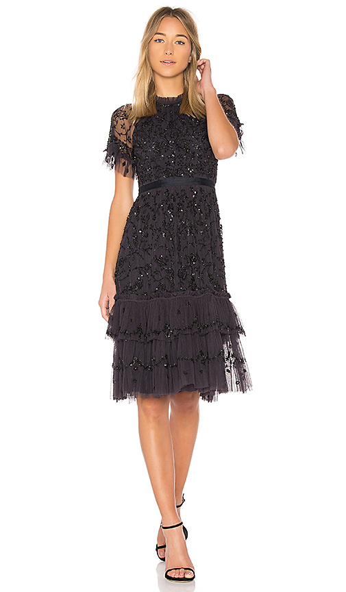 Photo of Needle & Thread Constellation Lace Dress in Black - shop Needle & Thread dresses sales