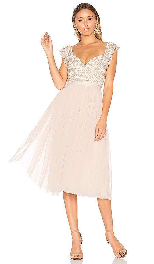 Needle & Thread Swan Dress in Pink
