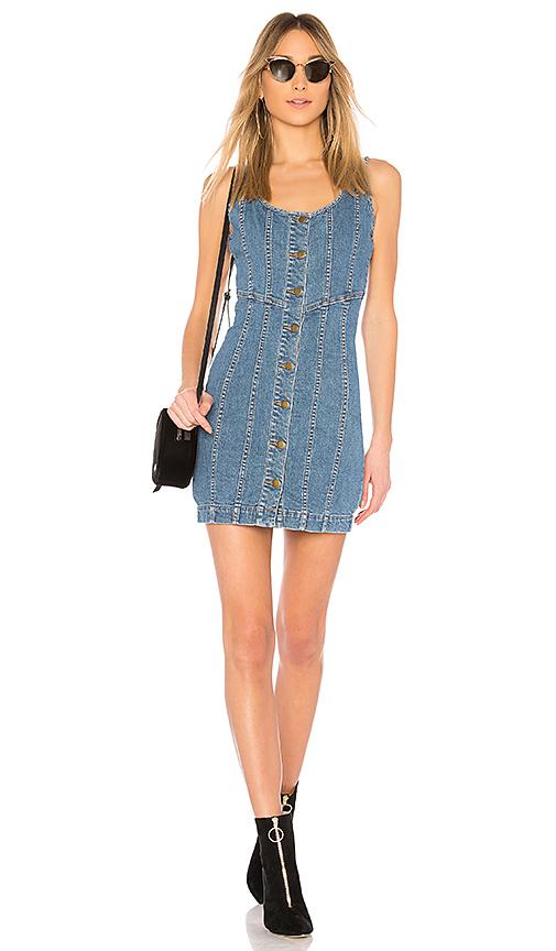 NICHOLAS Denim Button Front Mini Dress