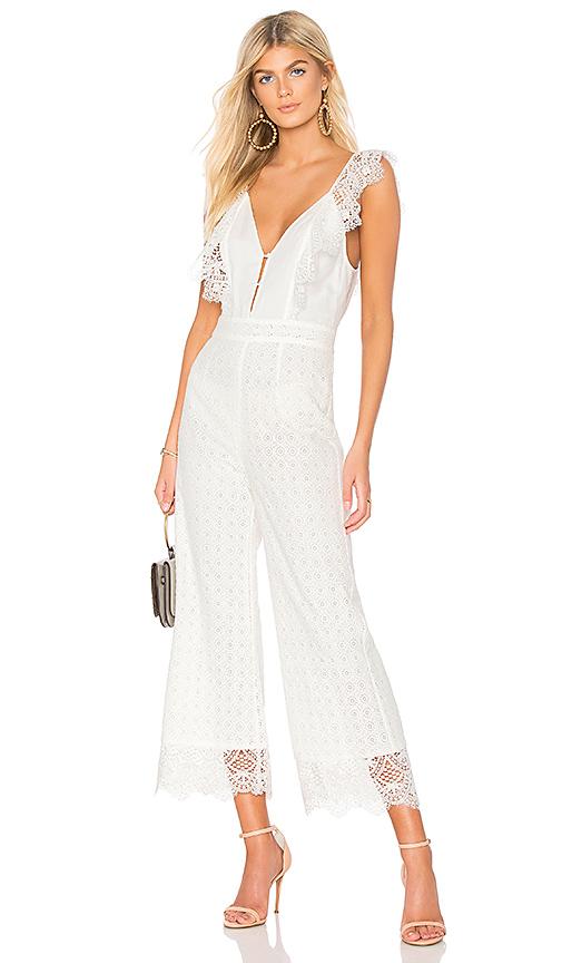 Nightcap Eliza Jumpsuit in White. - size L (also in M,S,XS)