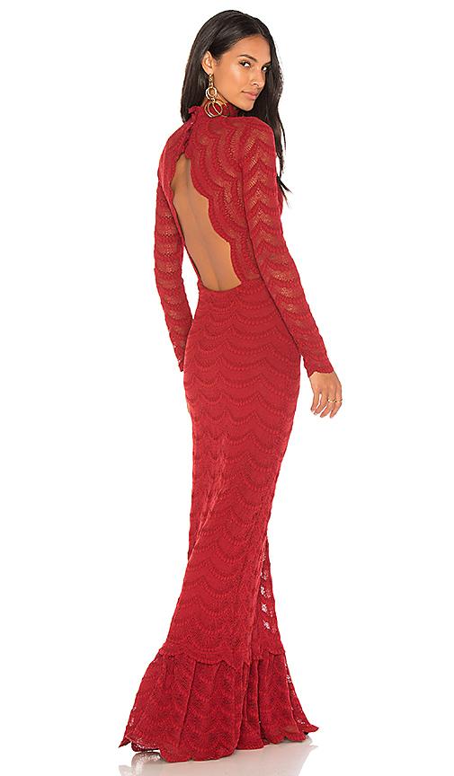 Nightcap Classic Fiesta Fan Gown in Red
